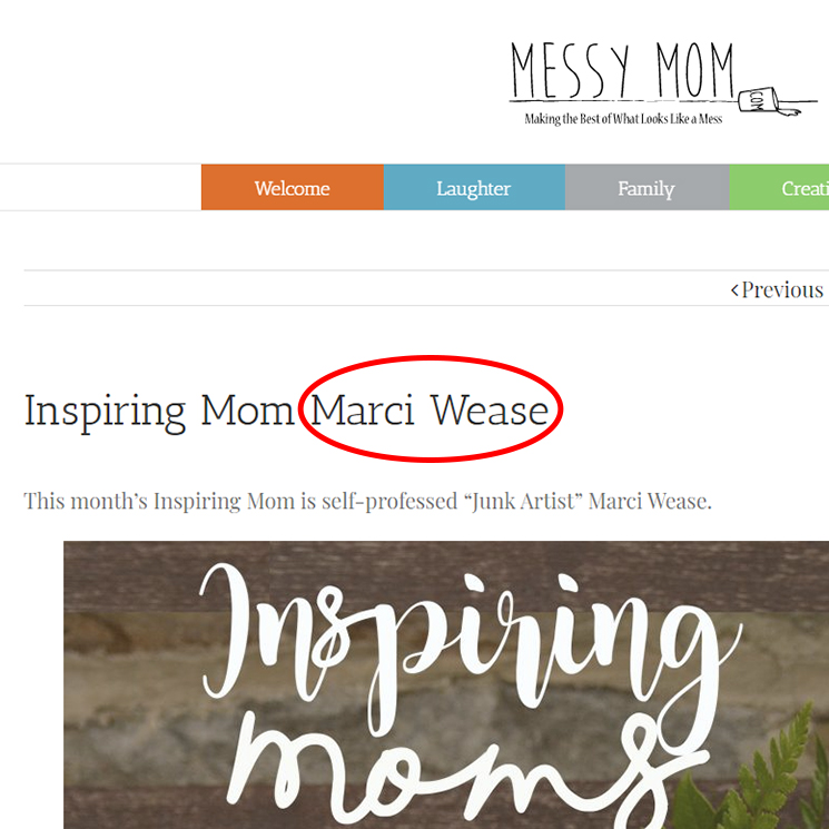 Messy Mom Blog Feature - Junk In This Truck