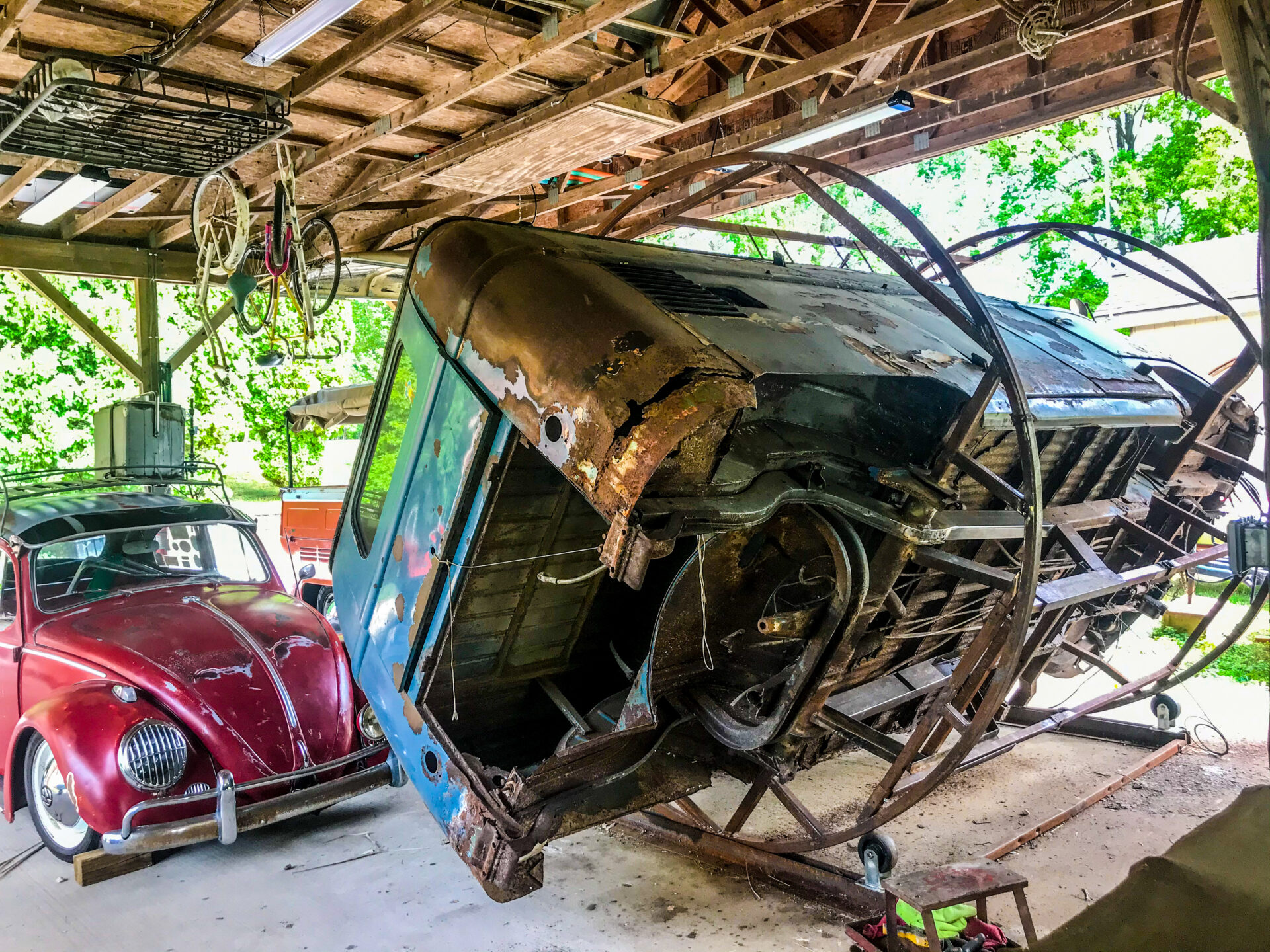 Suspended In Air - Unique VW Bus Art - Junk In This Truck