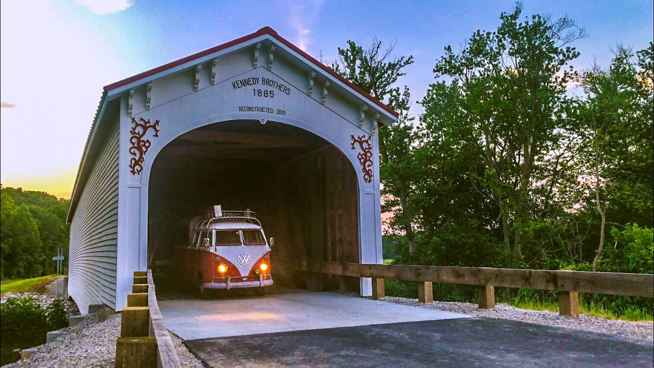 VW Bus Covered Bridge - Junk In This Truck